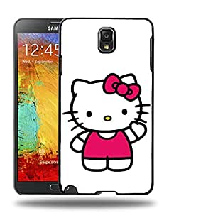Case88 Designs Hello Kitty Collection 0623 Protective Snap-on Hard Back Case Cover for Samsung Galaxy Note 3