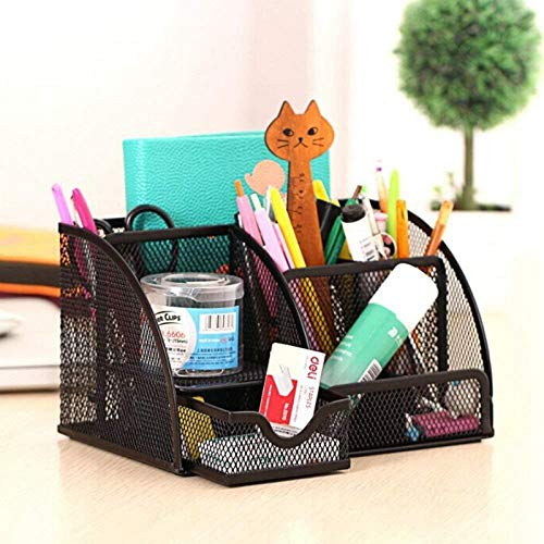 Nrpfell 1pcs Office Stationery Multi-Function Stationery Pen Holder Grid Storage Box by Nrpfell (Image #3)