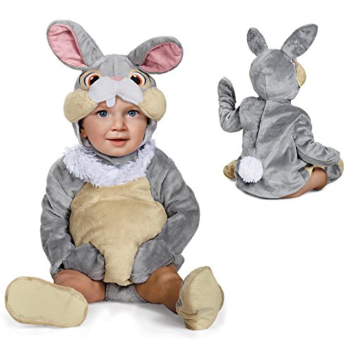 Baby And Toddler Rabbit Costumes (Disney Baby Thumper Deluxe Infant Costume, Gray, 12 to 18 Months)