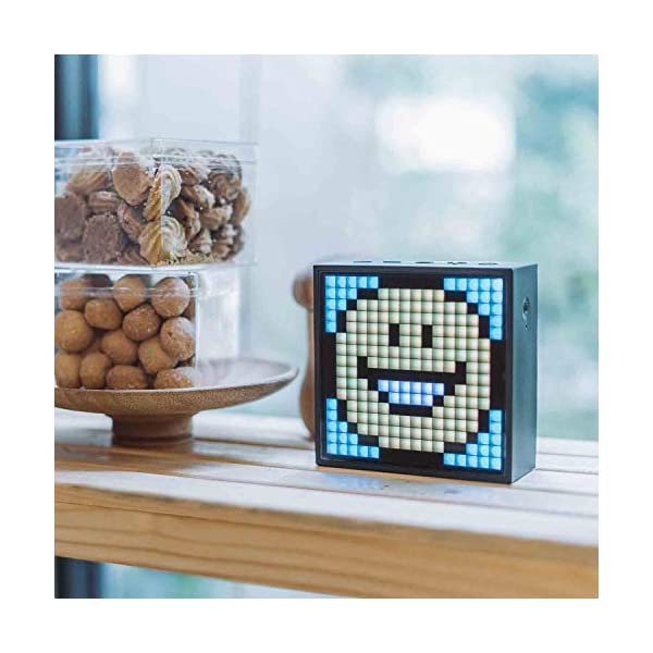 Divoom Timebox Evo Portable Bluetooth Pixel Art Speaker With 256 Programmable Led Panel 39 X 15 X 39 Inches Black