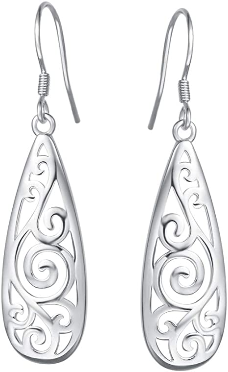 Black /& White Silver hoops Filigree Silver hoops Large Statement Earrings Artisan Silver earrings