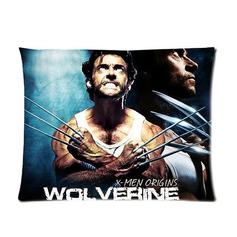 Personalized Custom Cotton & Polyester Soft Pillow Case Cover 20X26 (One Side) - Hot Movie The X-Men Wolverine Logan Hugh Jackman Arrow Pattern (Wolverine Xmen Bedding)