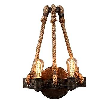 Amazon.com: Bagood - Lámpara de pared retro de hierro ...