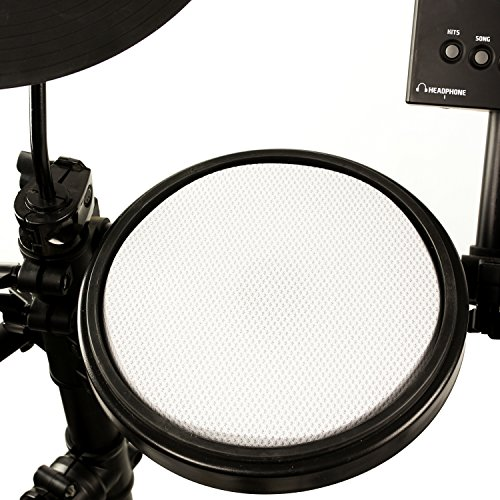 RockJam Mesh Head Kit, Eight Piece Electronic Drum Kit with Mesh Head, Easy Assemble Rack and Drum Module including 30 Kits, USB and Midi connectivity by RockJam (Image #4)