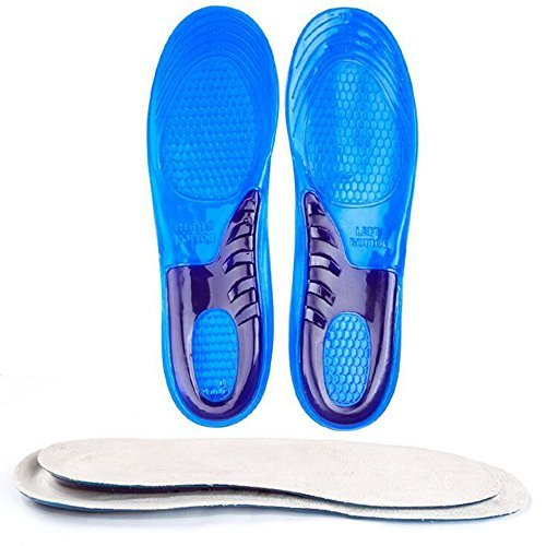 Speedfeet Sport Insole Gel Massaging Insole for Low Arches Orthopedic and Plantar Fasciitis Running,Silicone Insole for Men Shoes Insert(Men's Sizes 8-13)