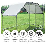 PawHut Galvanized Metal Chicken Coop Cage with