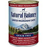 Cheap Natural Balance L.I.D. Limited Ingredient Diets Canned Wet Dog Food, Grain Free, Buffalo & Sweet Potato Formula, 13-Ounce (Pack of 12)