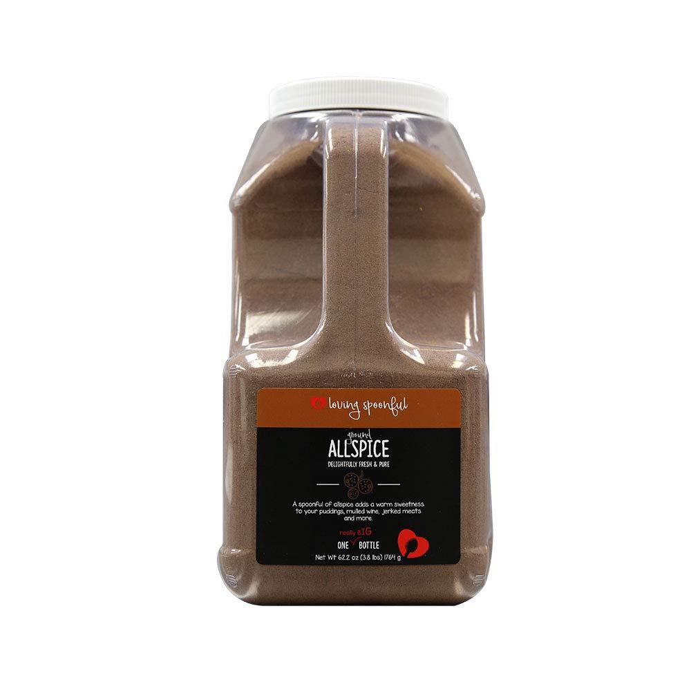 Loving Spoonful 62 oz Premium Ground Allspice | Food Service Size 4 lb Bulk Container