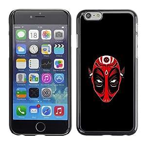 SKCASE Center / Funda Carcasa - Máscara Roja Demen Diablo;;;;;;;; - iPhone 6