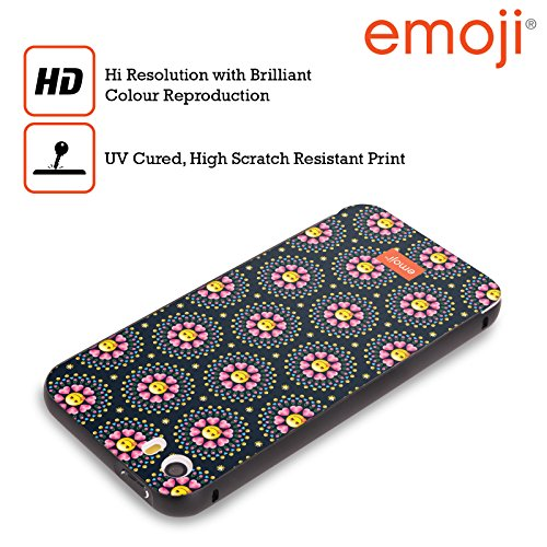 Officiel Emoji Fleurs Du Coeur Copies Assorties Noir Étui Coque Aluminium Bumper Slider pour Apple iPhone 5 / 5s / SE