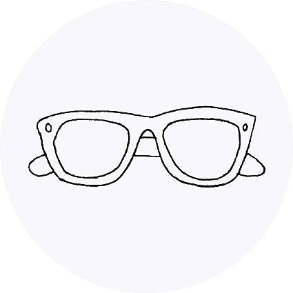 Azeeda 24 x 40mm Redondas Gafas de Sol Pegatinas ...