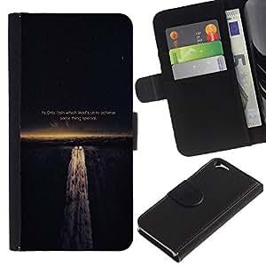 LECELL--Cuero de la tarjeta la carpeta del tirón Smartphone Slots Protección Holder For Apple Iphone 6 -- DOLOR NOS GUÍA PARA LOGRAR LA SABIDURÍA DE VIDA --