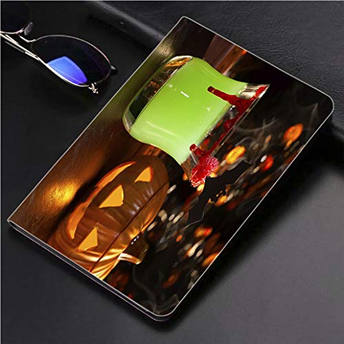 Compatible with 3D Printed iPad Pro 10.5 Case Picture of Halloween Drinks Vampires kiss Cocktail 360 Degree Swivel Mount Cover for Automatic Sleep Wake up ipad case