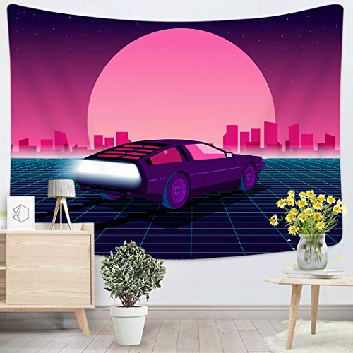 Houlor Tapestry Wall Hanging Retro Future 80S Sci