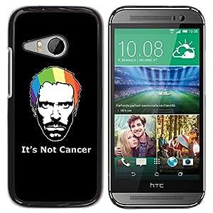 YiPhone /// Prima de resorte delgada de la cubierta del caso de Shell Armor - Its Not Cancer House - HTC ONE MINI 2 / M8 MINI