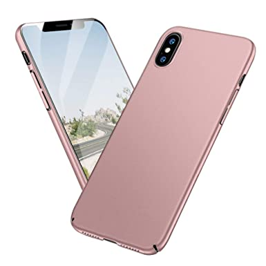 Meidom iPhone Xs Max Case with Ultra Thin Slim Fit and Protective Hard  Plastic Anti Fingerprints Matte Phone Case for iPhone Xs Max , Rose Gold