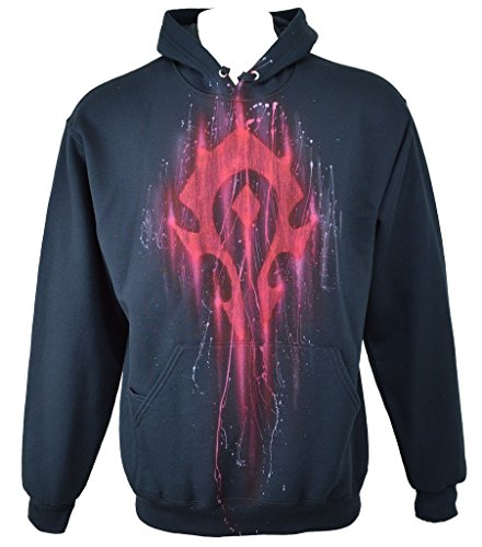 Exotic Gamer Gear Themed WOW Horde Hoodie Airbrushed Gamer Hoodie, Adult