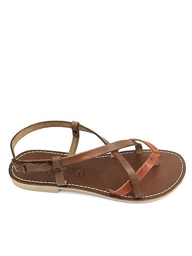 Damen Sandalen, orange - arancio - Größe: 41 Zeta Shoes