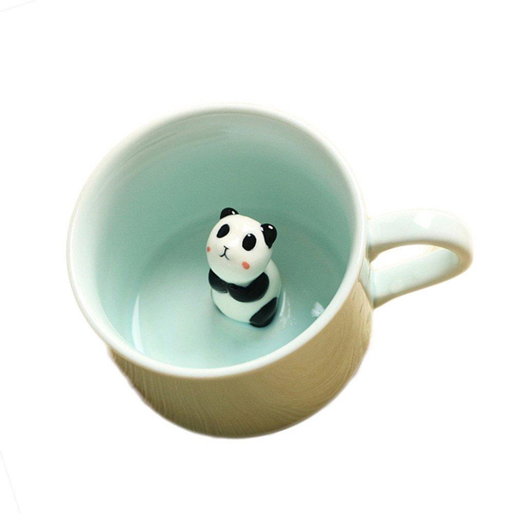 ZaH 300ml 3D Animal Cup Morning Mug, Panda