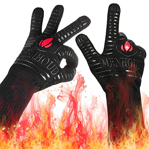 1472℉ Extreme Heat Resistant BBQ Gloves, Food Grade Kitchen Oven Gloves -...