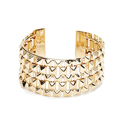 ViViCaSa Metal Fashion Wrap Cuff Bangle Bracelet Wristband for Girls Women, Gold