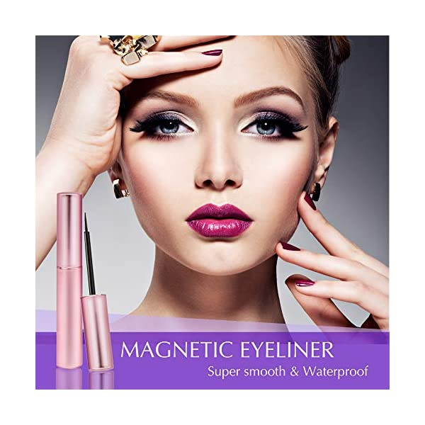 Magnetic Eyeliner for Magnetic Lashes Set, With Reusable Lashes