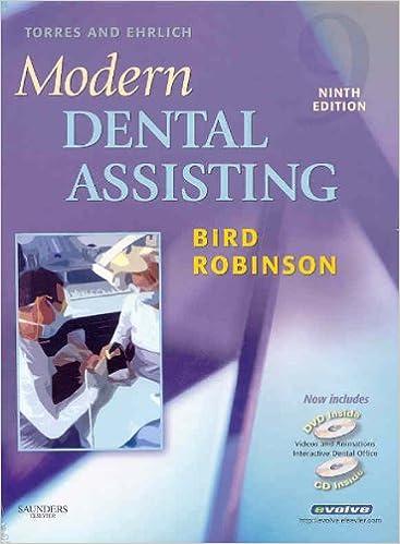 Torres and Ehrlich Modern Dental Assisting- Text, Workbook and Boyd Dental Instruments, 9th Edition