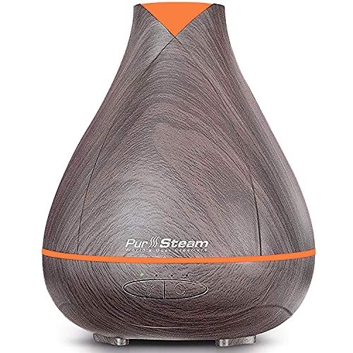 PurSteam 530ml Essential Oil Diffuser, Noise Reduce Design – Quieter, Longer Mist Output, 8-15 Hours Ultrasonic Aroma Diffuser with Waterless Auto-off, 7-Color LED Soft Light for Home, Office, Yoga 510foNGk 2BiL