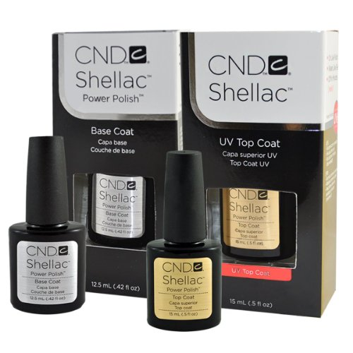 "CND Shellac Top .5oz and Base .42oz ""Set of 2"" Big Size"