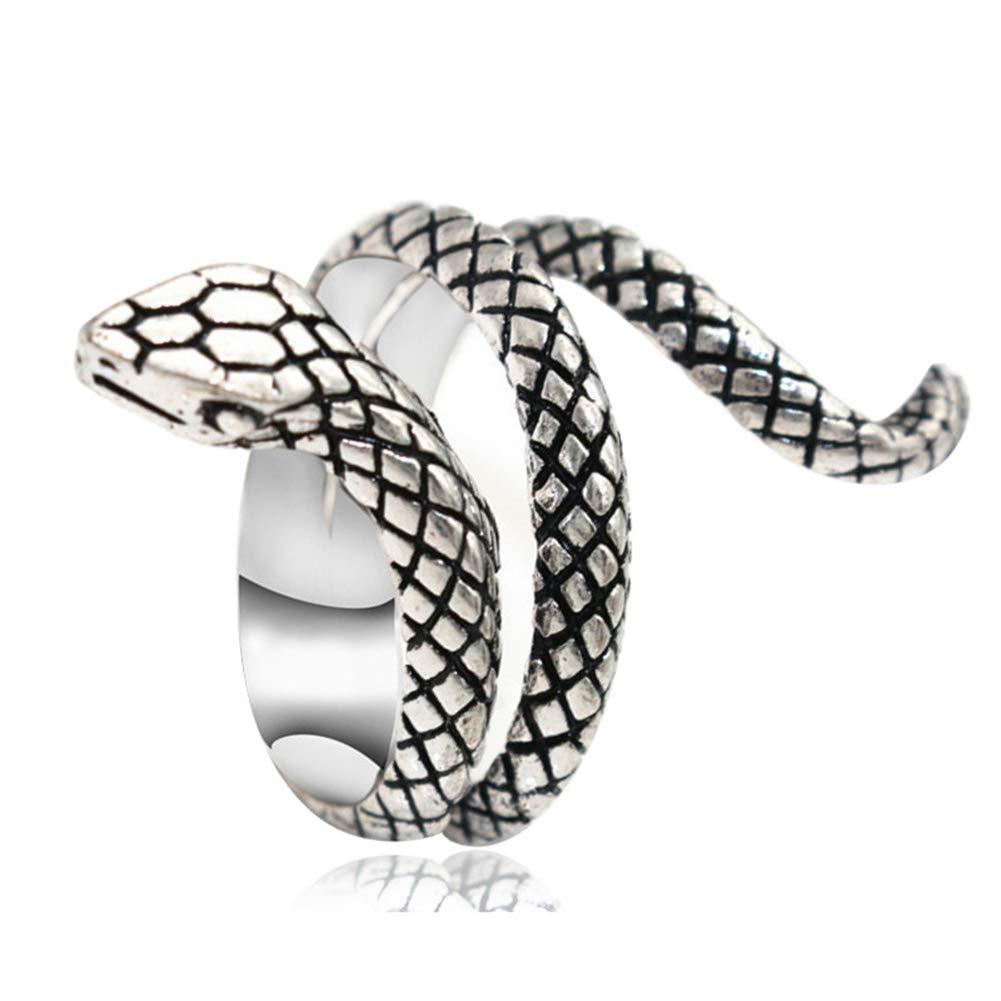 HSINCERELY Anillo de la Serpiente del Encanto del Anillo de Dedo para Las Mujeres de la Muchacha Accesorios de la joyer/ía Cita Diaria d/ía de San Valent/ín Regalo de Boda del Partido