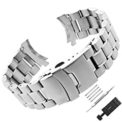 Stainless Steel Watch Band Features: --Unisex wrist band for mens or women --Package Material:high quality transparent PP bag --This metal wrist strap is a perfect gift for family or friends,on Valentine's Day,Christmas or birthday party. --L...