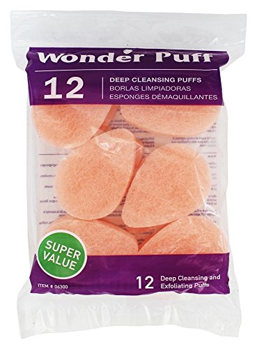 Gentle Exfoliating Pads - Wonder Puff 12 Deep Cleansing Puffs