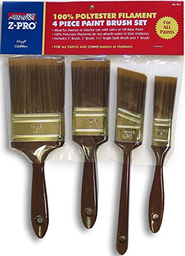 Premier Paint Roller 812Z Promotional Poly Brush Set, 4-Piece -