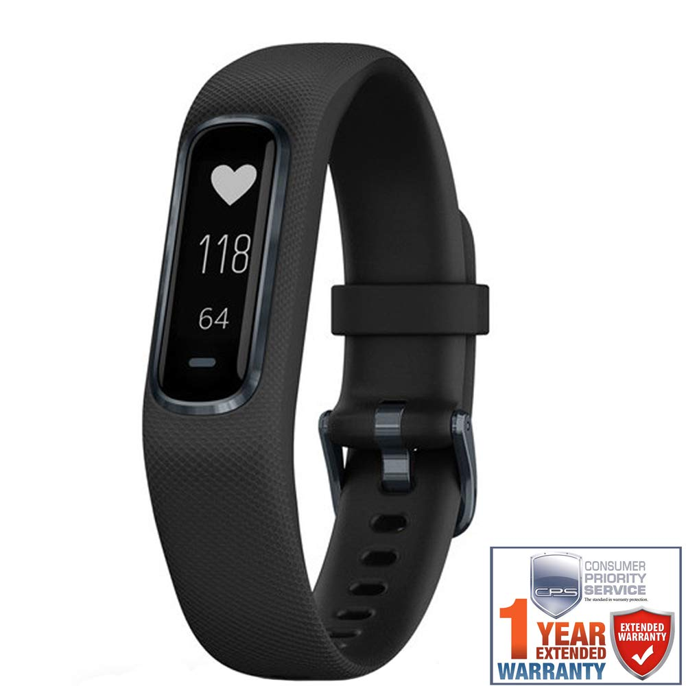 Garmin Vivosmart 4 Black with Midnight Hardware (L) (010-01995-13) with 1 Year Extended Warranty