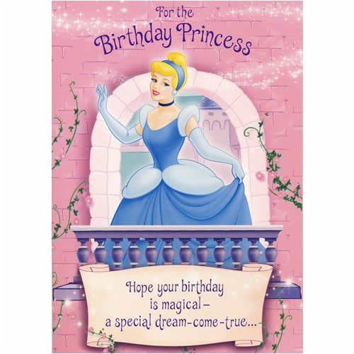 Disney Princess Cinderella Sound Birthday Card