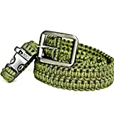 FOXTROT Army Green 550lb Survival Military Grade Paracord Belt with Free Matching Paracord