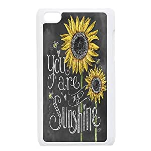 Cheap iPod Touch 4 Case, You Are My Sunshine quote New Fashion Cover Case