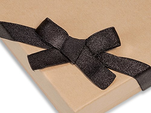 Pack Of 50, 8'' Black Satin Stretch Wide Loops W/Pre-Tied Bows For Jewelry Boxes by Generic