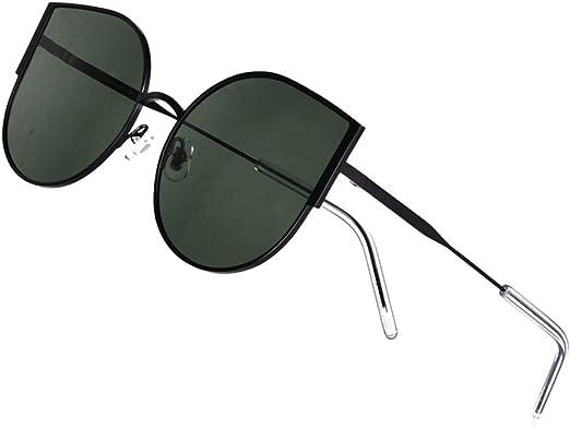 Classic Cat Eye Sunglasses for Women Aviator Retro Big Frame Sunglasses for Men UV400 Protection Ladies Glasses