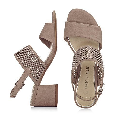 Marco Tozzi 28314-28 Sandalias Mujer Marrón Taupe