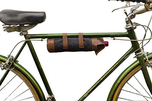 Repurposed Denim Bicycle Wine Caddy (Wine Carrier) Handmade by Hide & (Wicker Basket Duck)