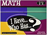 Teacher Created Resources I Have. Who Has.? Math Games Grade 3-4 (7819)
