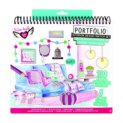 Fashion Angels Interior Design Sketch Portfolio, Assorted (Best Craft Room Designs)
