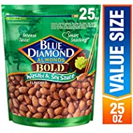 Blue Diamond Almonds Bold Wasabi & Soy Sauce Almonds, 25 Ounce (Pack of 1)