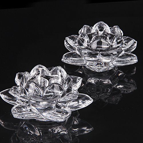 Crystals Flower Candle Holder - 3