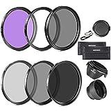 Neewer 58MM Lens Filter Accessory Kit (UV, CPL, FLD) for CANON EOS Rebel T5i T4i T3i T3 T2i T1i XT XTi XSi SL1 DSLR Cameras