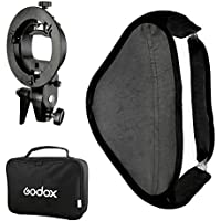 GODOX Softbox + S Type Bracket Stable Bowens Flash Bracket Mount 60 x 60 Foldable Softbox Kit