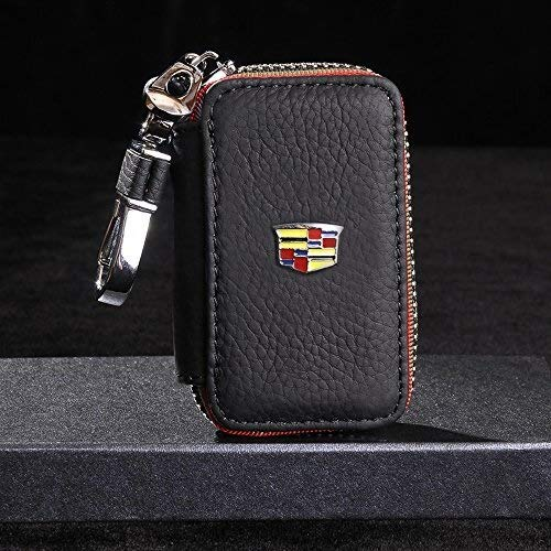IMBM Leather Car Key Holder Case Key Chain Coin Purse Suitable for Cadillac