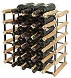 Final Touch 30 Bottle Wine Rack, Natural Finish For Sale
