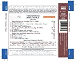 Anton Arensky: Piano Quintet in D Major, Op. 51 - String Quartet No. 2 in A Minor, Op. 35 - Piano Trio No. 1 in D Minor, Op. 32
